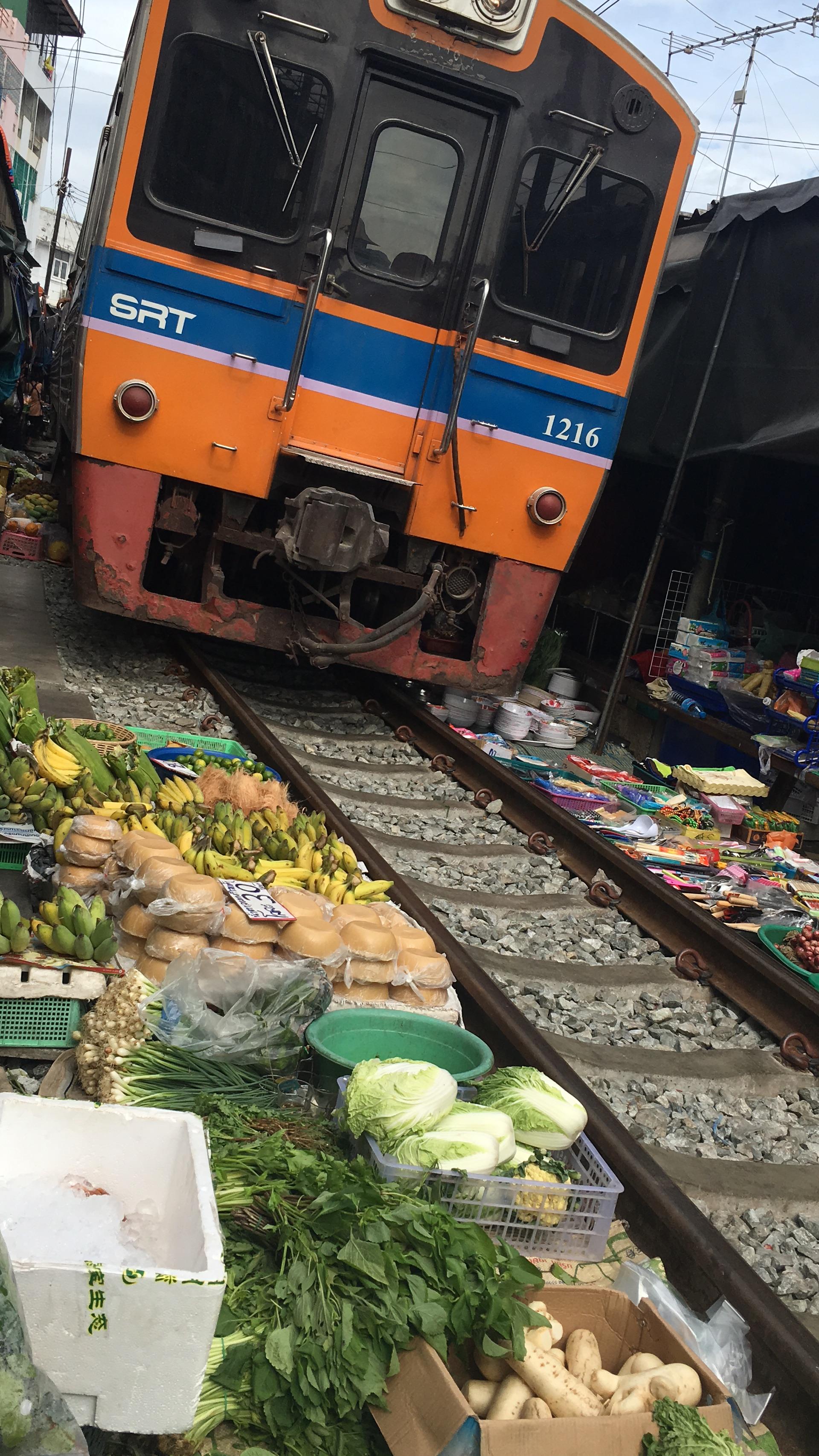 Train Market Bangkok Thailand
